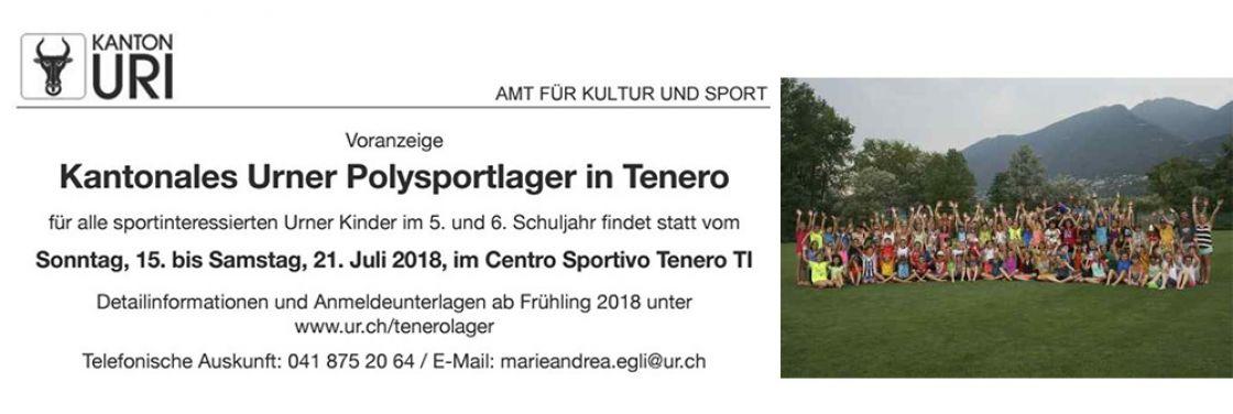 Voranzeige: 44. Kantonale Urner Polysportlager Tenero 2018