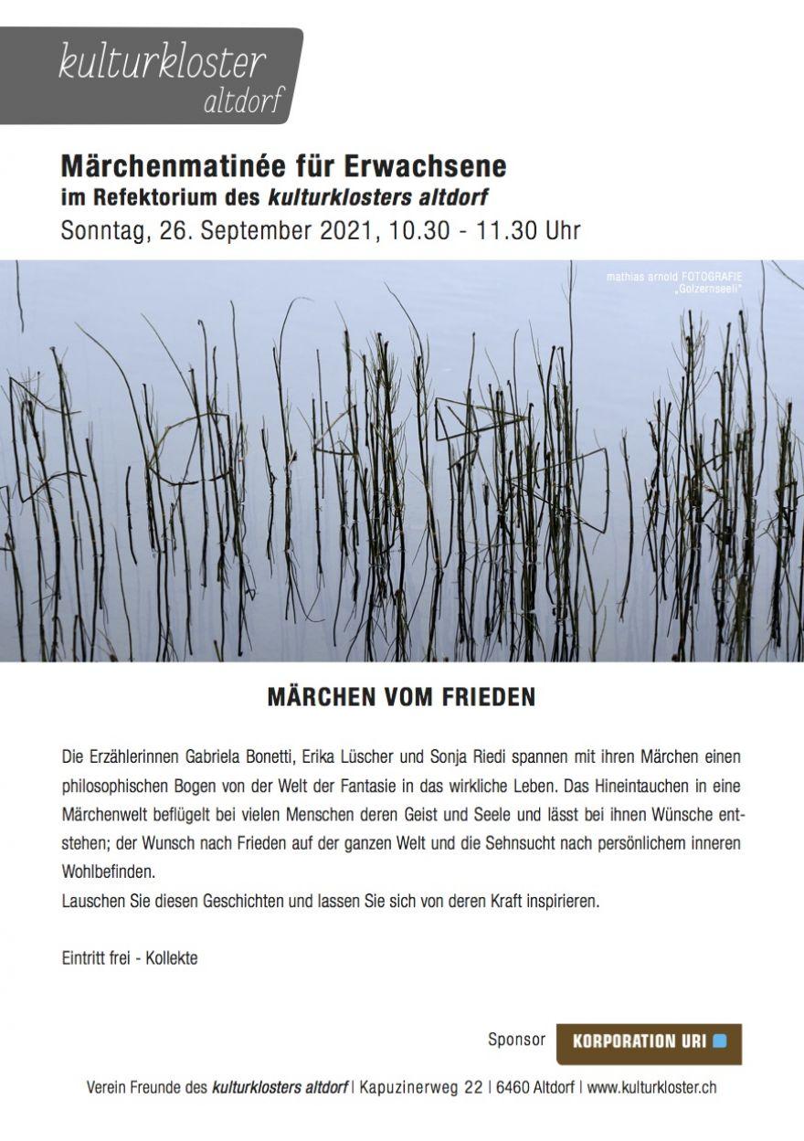"""Märchenmatinée für Erwachsene """"Märchen vom Frieden"""""""